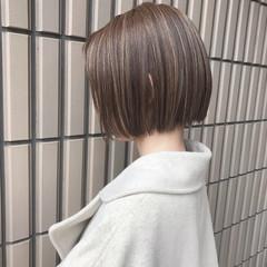 ナチュラル ボブ モテ髪 ボブヘアー ヘアスタイルや髪型の写真・画像