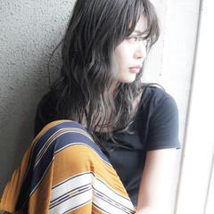 セミロング 透明感 秋 大人かわいい ヘアスタイルや髪型の写真・画像