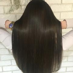縮毛矯正 艶髪 ナチュラル ロング ヘアスタイルや髪型の写真・画像