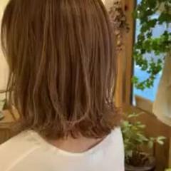 セミロング 大人ハイライト 愛され 秋 ヘアスタイルや髪型の写真・画像