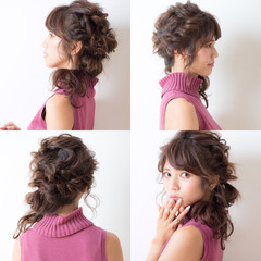 ヘアアレンジ ロング 大人女子 前髪あり ヘアスタイルや髪型の写真・画像