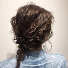 ヘアアレンジ 簡単ヘアアレンジ 結婚式 編み込み ヘアスタイルや髪型の写真・画像