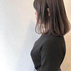 ロブ ナチュラル ミディアム ゆるナチュラル ヘアスタイルや髪型の写真・画像
