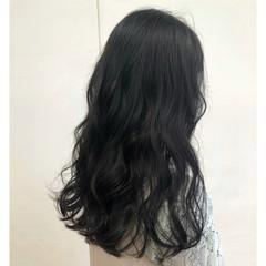 ロング ショコラブラウン ナチュラルブラウンカラー ダークトーン ヘアスタイルや髪型の写真・画像