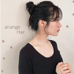 ロング 大人かわいい ヘアアレンジ 簡単ヘアアレンジ ヘアスタイルや髪型の写真・画像