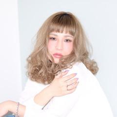 大人女子 ロブ パーマ エレガント ヘアスタイルや髪型の写真・画像