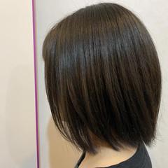 ネイビーブルー ボブ キャラデコミュゼリア アッシュ ヘアスタイルや髪型の写真・画像