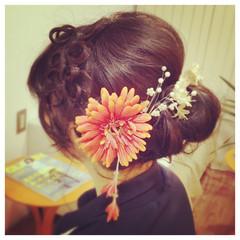 ミディアム 成人式 愛され ヘアアレンジ ヘアスタイルや髪型の写真・画像