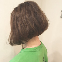 抜け感 大人女子 ショート ボブ ヘアスタイルや髪型の写真・画像
