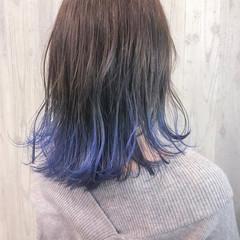 ブリーチカラー 裾カラー 外国人風 モード ヘアスタイルや髪型の写真・画像