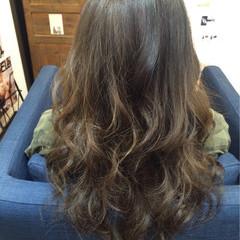 ガーリー 外国人風 ブラウン セミロング ヘアスタイルや髪型の写真・画像