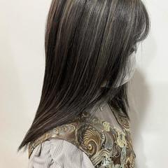 コントラストハイライト ストリート 大人ハイライト ロング ヘアスタイルや髪型の写真・画像