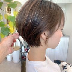 簡単ヘアアレンジ オフィス ショート アウトドア ヘアスタイルや髪型の写真・画像