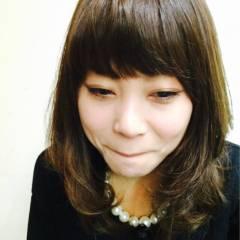 丸顔 ガーリー ミディアム モテ髪 ヘアスタイルや髪型の写真・画像