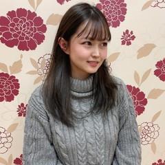 マット ナチュラル セミロング 韓国風ヘアー ヘアスタイルや髪型の写真・画像