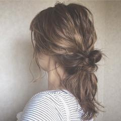 涼しげ ナチュラル 色気 夏 ヘアスタイルや髪型の写真・画像
