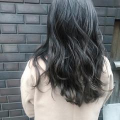 外国人風カラー ナチュラル ハイライト セミロング ヘアスタイルや髪型の写真・画像