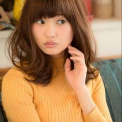 ミディアム コンサバ 愛され 大人かわいい ヘアスタイルや髪型の写真・画像