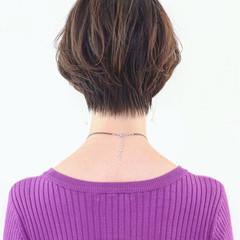 ショート フェミニン マニッシュ グラデーションカラー ヘアスタイルや髪型の写真・画像