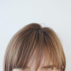 ハイトーン 外国人風 ブリーチ ボブ ヘアスタイルや髪型の写真・画像
