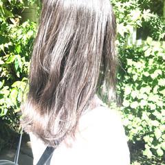 セミロング 圧倒的透明感 透明感カラー 透明感 ヘアスタイルや髪型の写真・画像