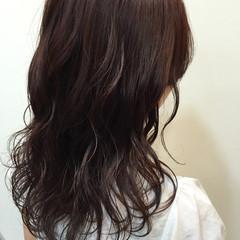ベージュ フェミニン ピンク ミディアム ヘアスタイルや髪型の写真・画像
