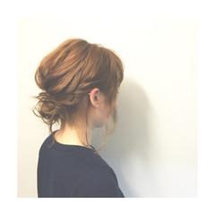 ゆるふわ まとめ髪 ミディアム ヘアアレンジ ヘアスタイルや髪型の写真・画像