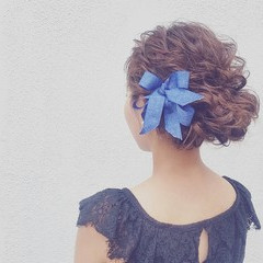 ゆるふわ ロング 簡単ヘアアレンジ ショート ヘアスタイルや髪型の写真・画像