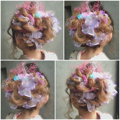 ハーフアップ ロング 簡単ヘアアレンジ ヘアアレンジ ヘアスタイルや髪型の写真・画像