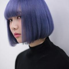 ハイトーン モード 切りっぱなし ブリーチ ヘアスタイルや髪型の写真・画像