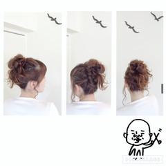 ヘアアレンジ メッシーバン ショート ロング ヘアスタイルや髪型の写真・画像