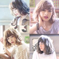 ストリート セミロング アッシュ パーマ ヘアスタイルや髪型の写真・画像