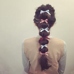 パーティ ロング ヘアアレンジ 暗髪 ヘアスタイルや髪型の写真・画像