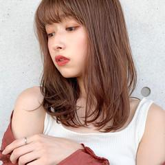 透明感カラー アンニュイほつれヘア 髪質改善トリートメント ミディアム ヘアスタイルや髪型の写真・画像