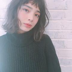 外国人風 ニュアンス 前髪あり ガーリー ヘアスタイルや髪型の写真・画像