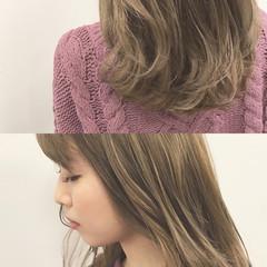 グラデーションカラー セミロング 外国人風カラー ハイライト ヘアスタイルや髪型の写真・画像
