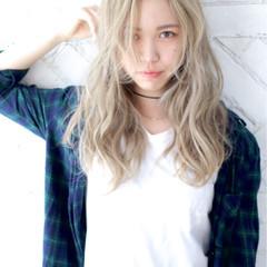 ハイトーン 外国人風 金髪 ストリート ヘアスタイルや髪型の写真・画像