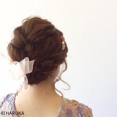 ヘアアレンジ 結婚式 フェミニン 大人かわいい ヘアスタイルや髪型の写真・画像
