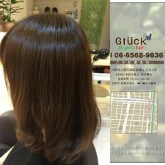 セミロング ナチュラル トリートメント 艶髪 ヘアスタイルや髪型の写真・画像