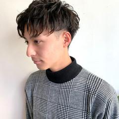 スパイラルパーマ パーマ ショート メンズパーマ ヘアスタイルや髪型の写真・画像