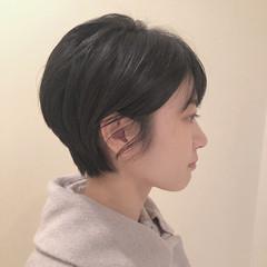ナチュラル ショートカット ショートボブ ショート ヘアスタイルや髪型の写真・画像