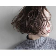 モード ボブ 抜け感 束感 ヘアスタイルや髪型の写真・画像