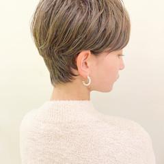 デート オフィス ショート アウトドア ヘアスタイルや髪型の写真・画像