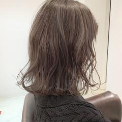 ボブ 外国人風カラー ミルクティーグレージュ ナチュラル ヘアスタイルや髪型の写真・画像