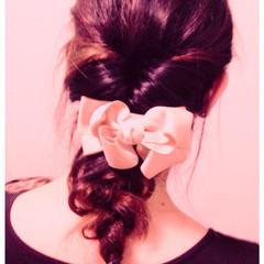 ミディアム ヘアアレンジ セルフヘアアレンジ くるりんぱ ヘアスタイルや髪型の写真・画像