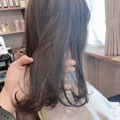 切りっぱなしボブ ベリーショート インナーカラー セミロング ヘアスタイルや髪型の写真・画像