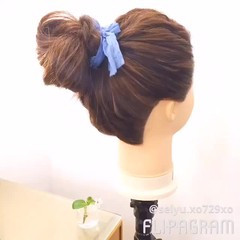 ポニーテール ロング ヘアアレンジ 簡単 ヘアスタイルや髪型の写真・画像