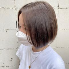 ナチュラル ショートヘア 小顔ヘア ショートボブ ヘアスタイルや髪型の写真・画像