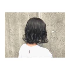 外ハネ ウェーブ アンニュイ ボブ ヘアスタイルや髪型の写真・画像
