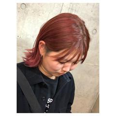 ダブルカラー ミディアム グラデーションカラー 女子力 ヘアスタイルや髪型の写真・画像